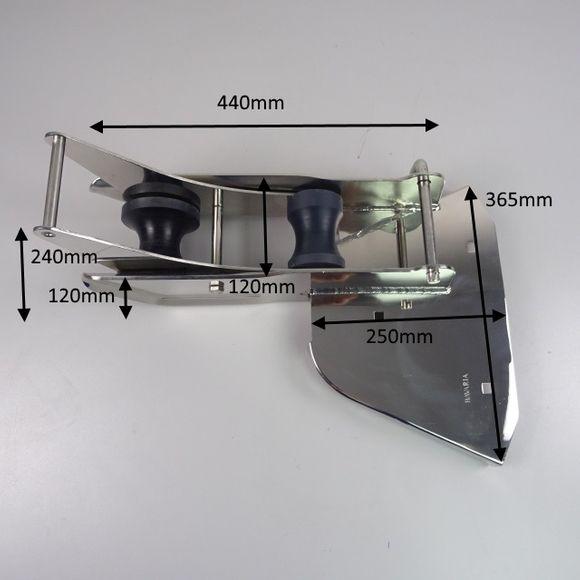 V4A Edelstahl Bugbeschlag Ankerolle mit Wippe Bugspriet Bugrolle – Bild 2