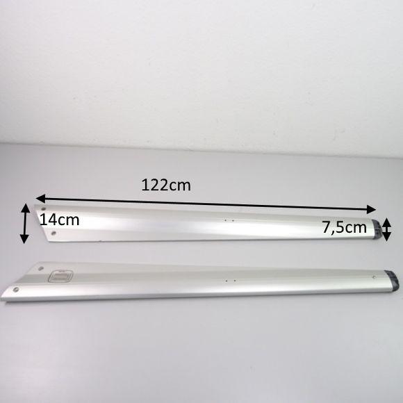 Selden Set profilierte Salinge 2x Salingarme 122cm Aluminium Bavaria – Bild 2