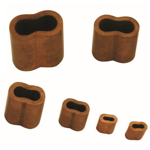 10er Pack Ø 2mm - 6mm Presshülsen Kupfer Pressklemme Würgeklemme