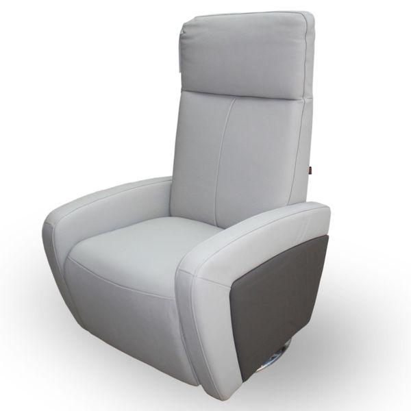 Relaxsessel Ledersessel Luxurior Grau – Bild 1
