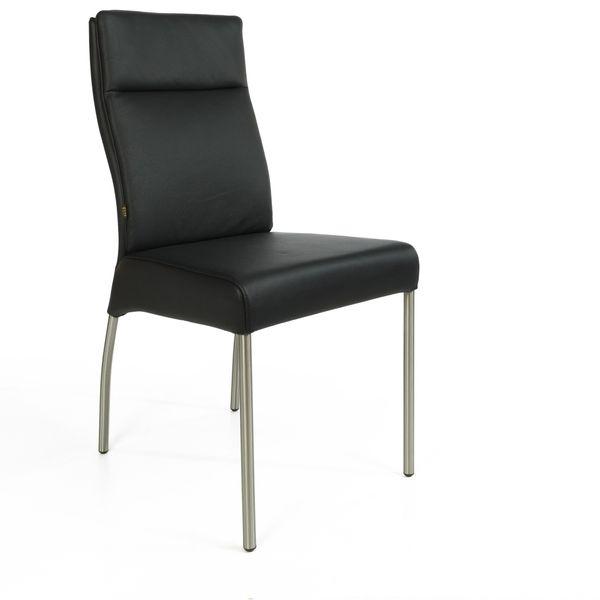 Lederstuhl stuhl gatto rindsleder besucherstuhl leder for Lederstuhl schwarz esszimmer
