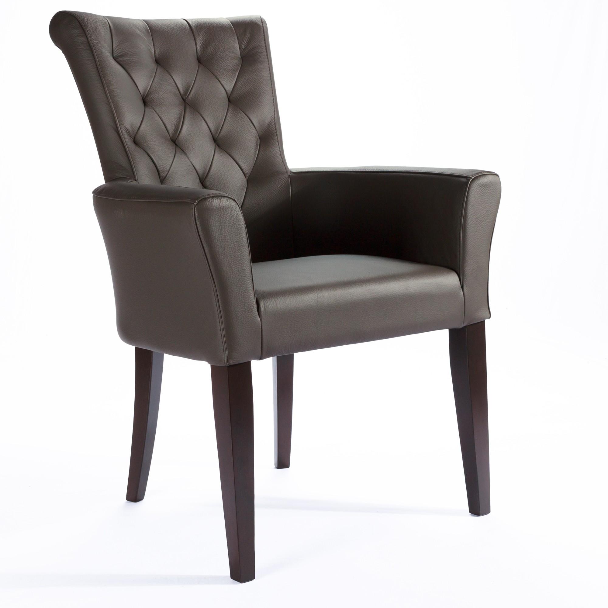 armlehnstuhl ledersessel capo braun. Black Bedroom Furniture Sets. Home Design Ideas