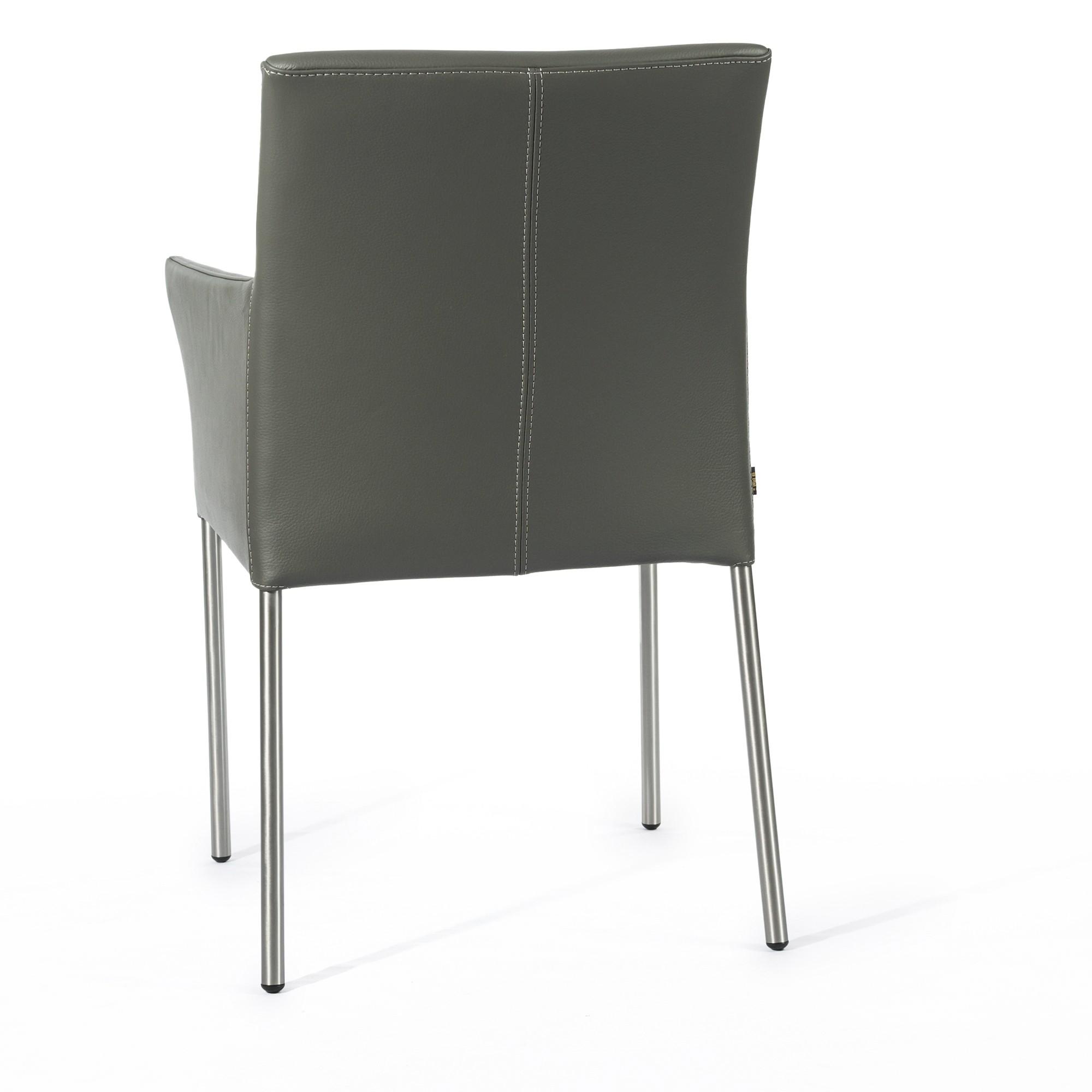 Elegant Armlehnstuhl Grau Galerie Von Lederstuhl Ledersessel Ricco – Bild 4