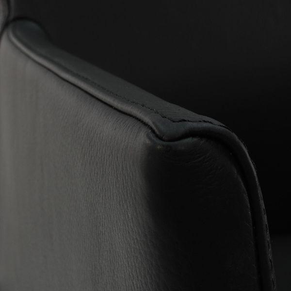 Armlehnstuhl Lederstuhl Ledersessel Ricco Schwarz – Bild 6