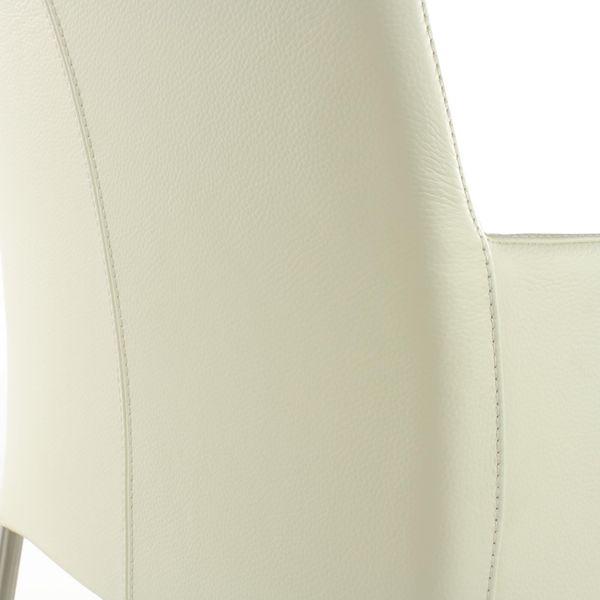Armlehnstuhl Lederstuhl Ledersessel Ricco Weiss 2201 – Bild 4