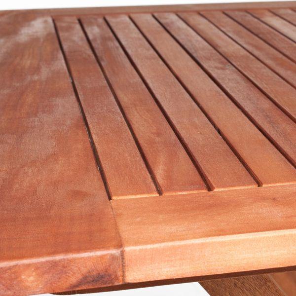 Bistroset Gartenset Eukalyptus 1x Gartentisch 2x Gartenstuhl – Bild 4
