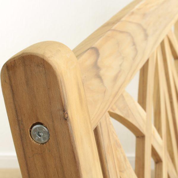 Teakholz Gartenbank Bench 3-Sitzer – Bild 4