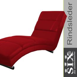 Relaxliege Italy SPA Leder Rot