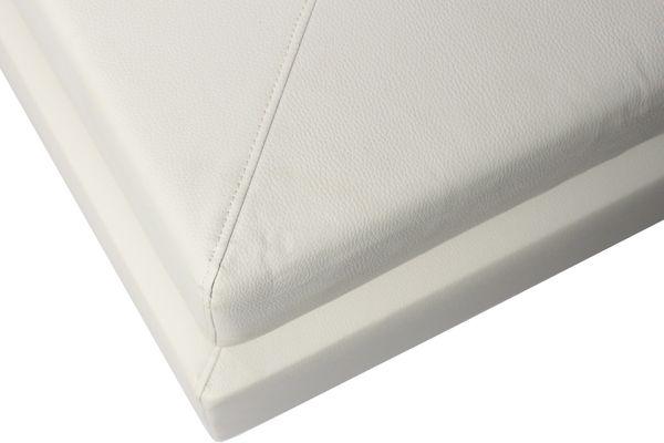 Polsterbett Boxspringbett Kunstleder Creme 180x200 | nicht verstellbar – Bild 2