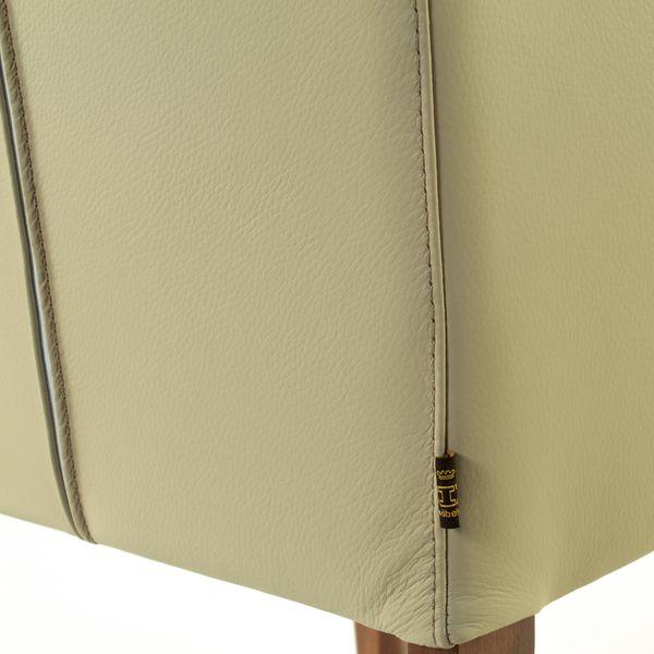 Lederstuhl Armlehnstuhl Galdo Mocca Light Nussbaum – Bild 6
