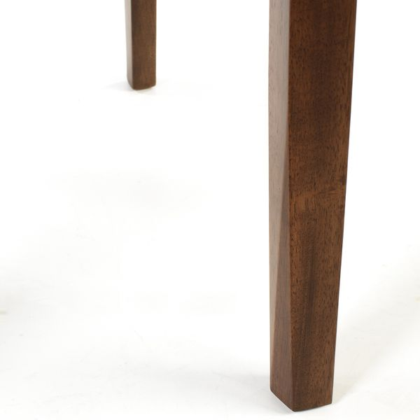 Lederstuhl Armlehnstuhl Galdo Schwarz Nussbaum – Bild 2