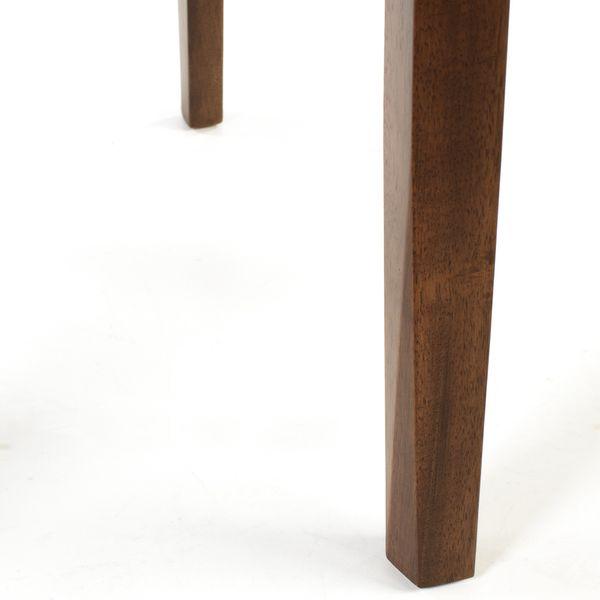 Lederstuhl Armlehnstuhl Galdo Schwarz Nussbaum – Bild 7