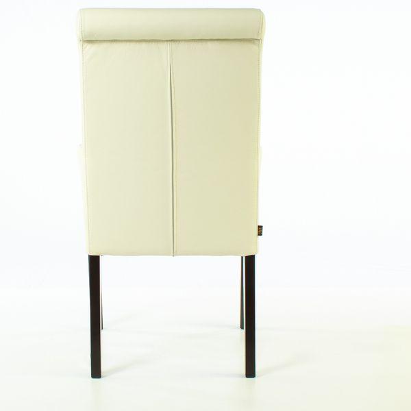 Lederstuhl Armlehnstuhl Galdo Creme Weiß Wenge 2200 – Bild 5