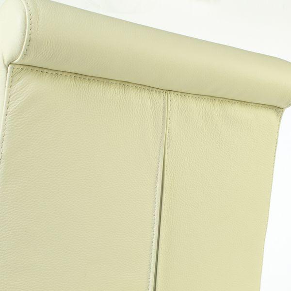 Lederstuhl Armlehnstuhl Galdo Creme Weiß Wenge 2200 – Bild 6