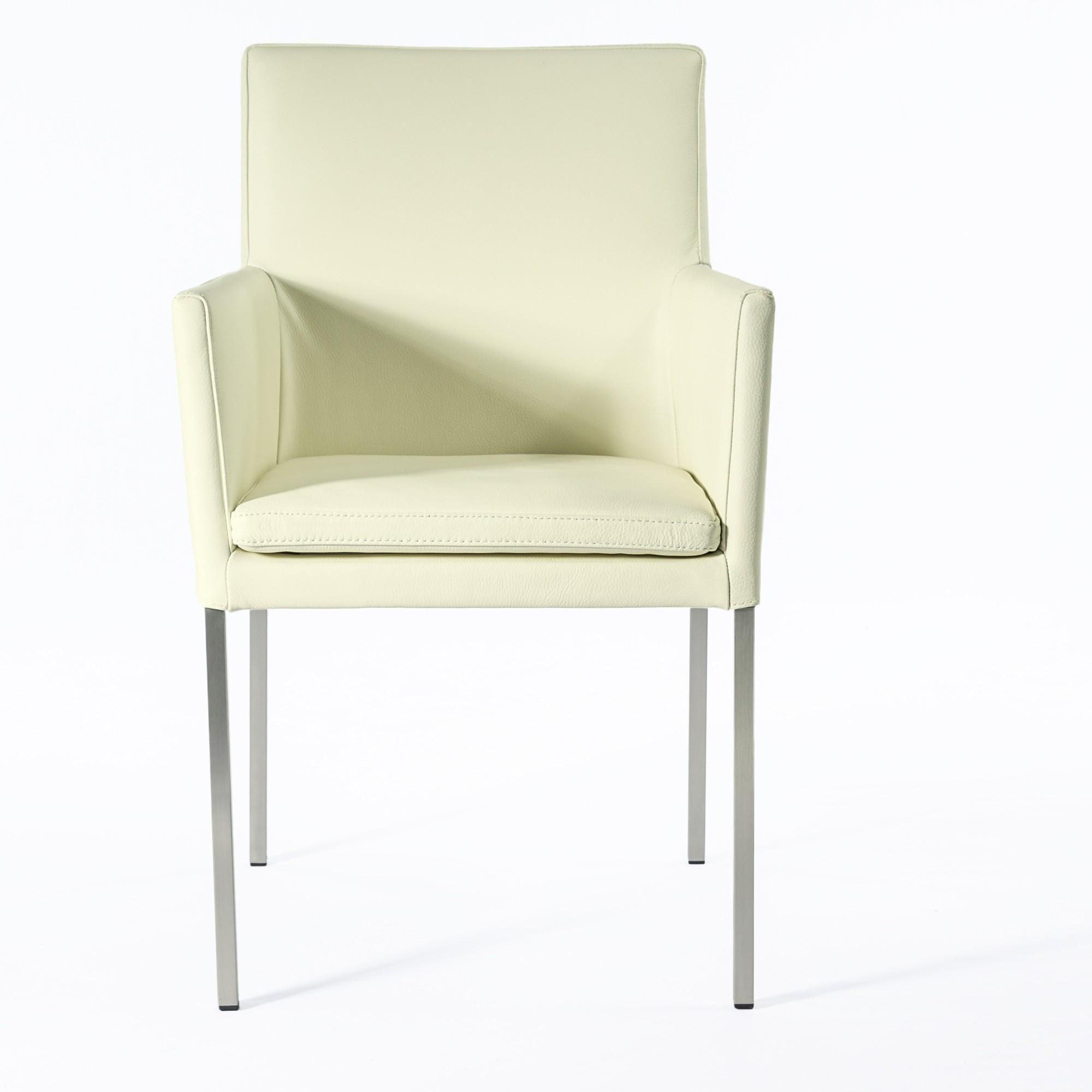 armlehnstuhl lederstuhl ledersessel stella creme wei. Black Bedroom Furniture Sets. Home Design Ideas