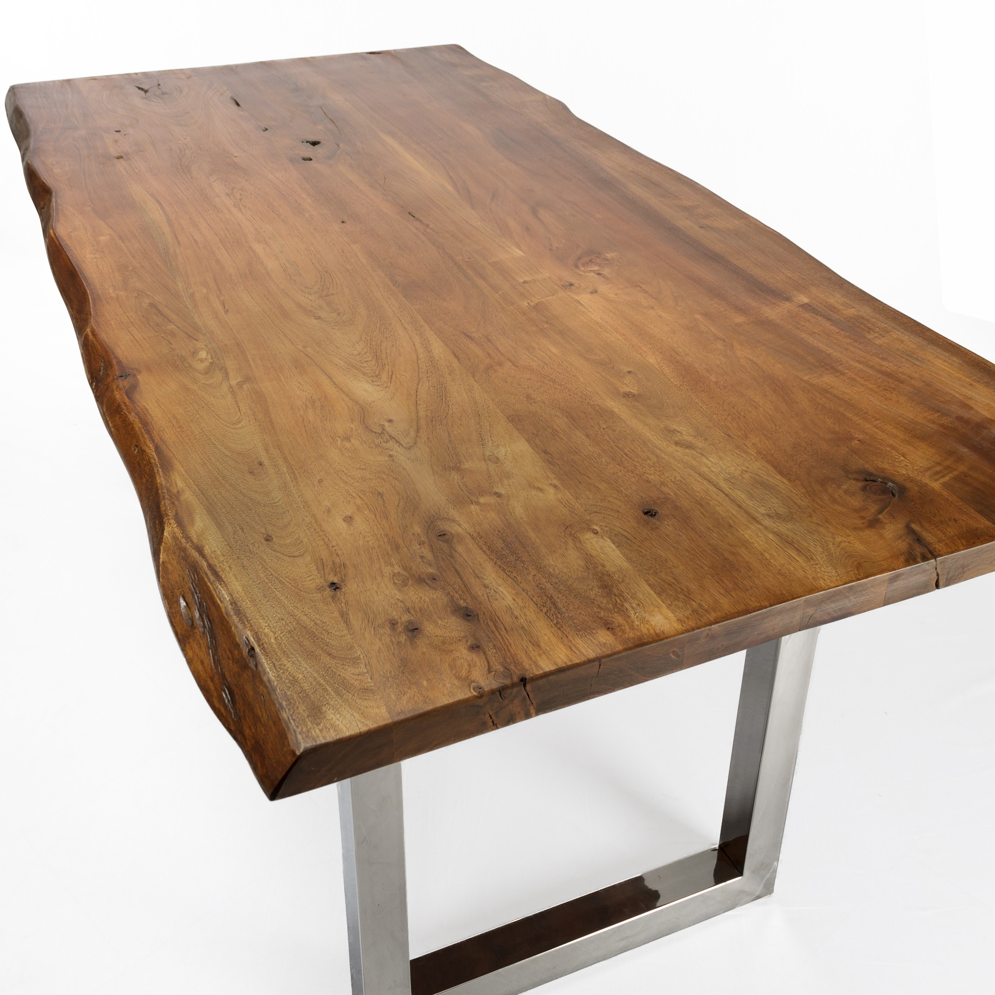 esstisch akazie baumkante stone finish 175x90. Black Bedroom Furniture Sets. Home Design Ideas