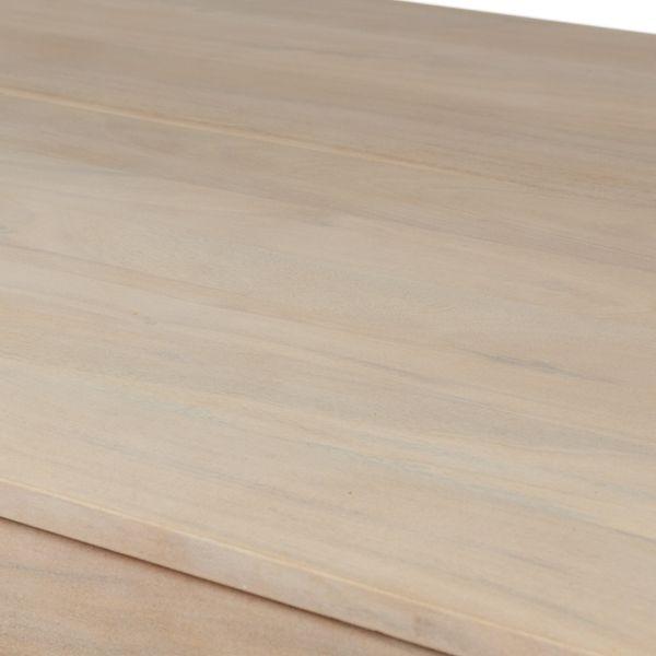 Esstisch Massivholz Akazie White Washed 180x90 – Bild 4