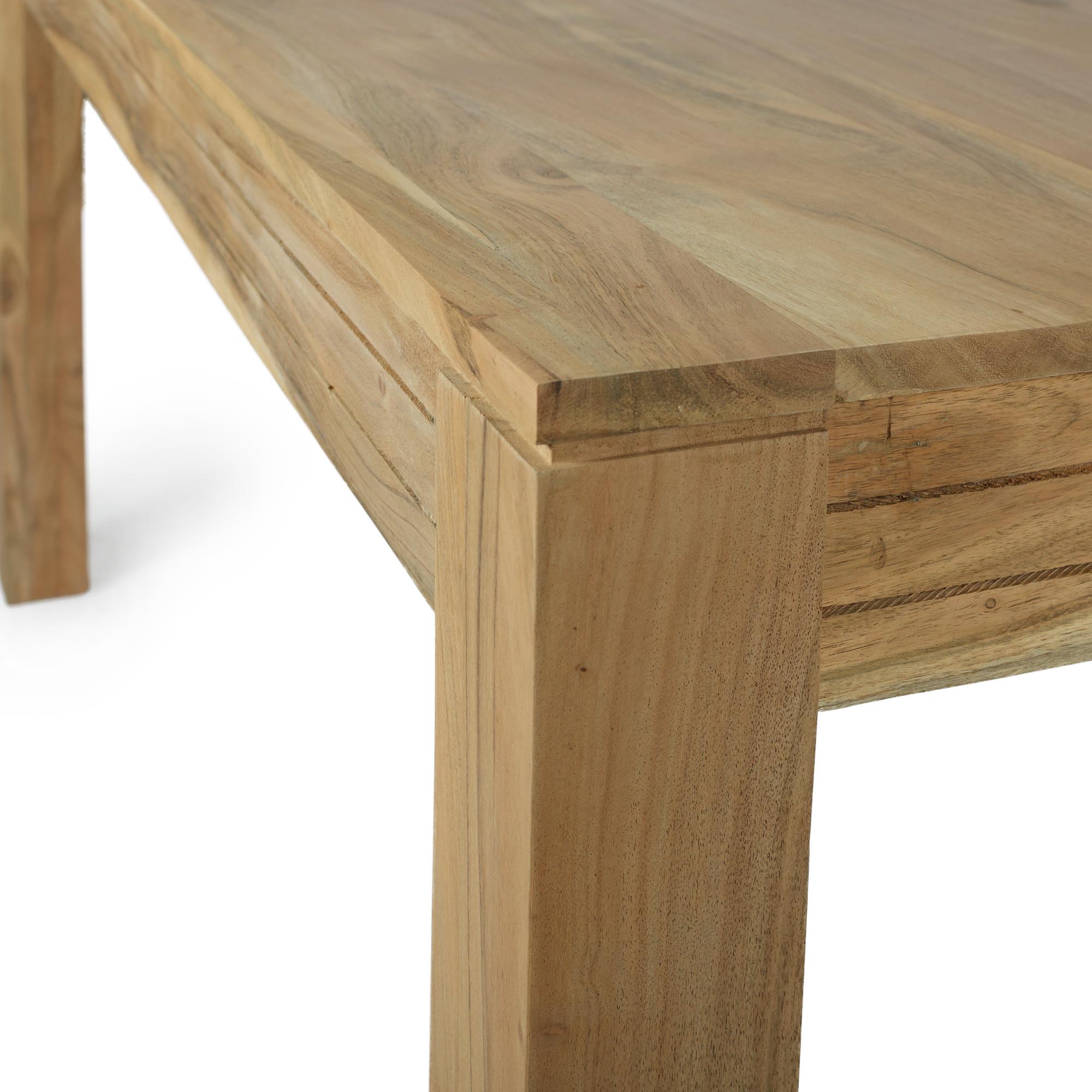 Esstisch massivholz akazie natur 160x90 for Ledersessel esstisch