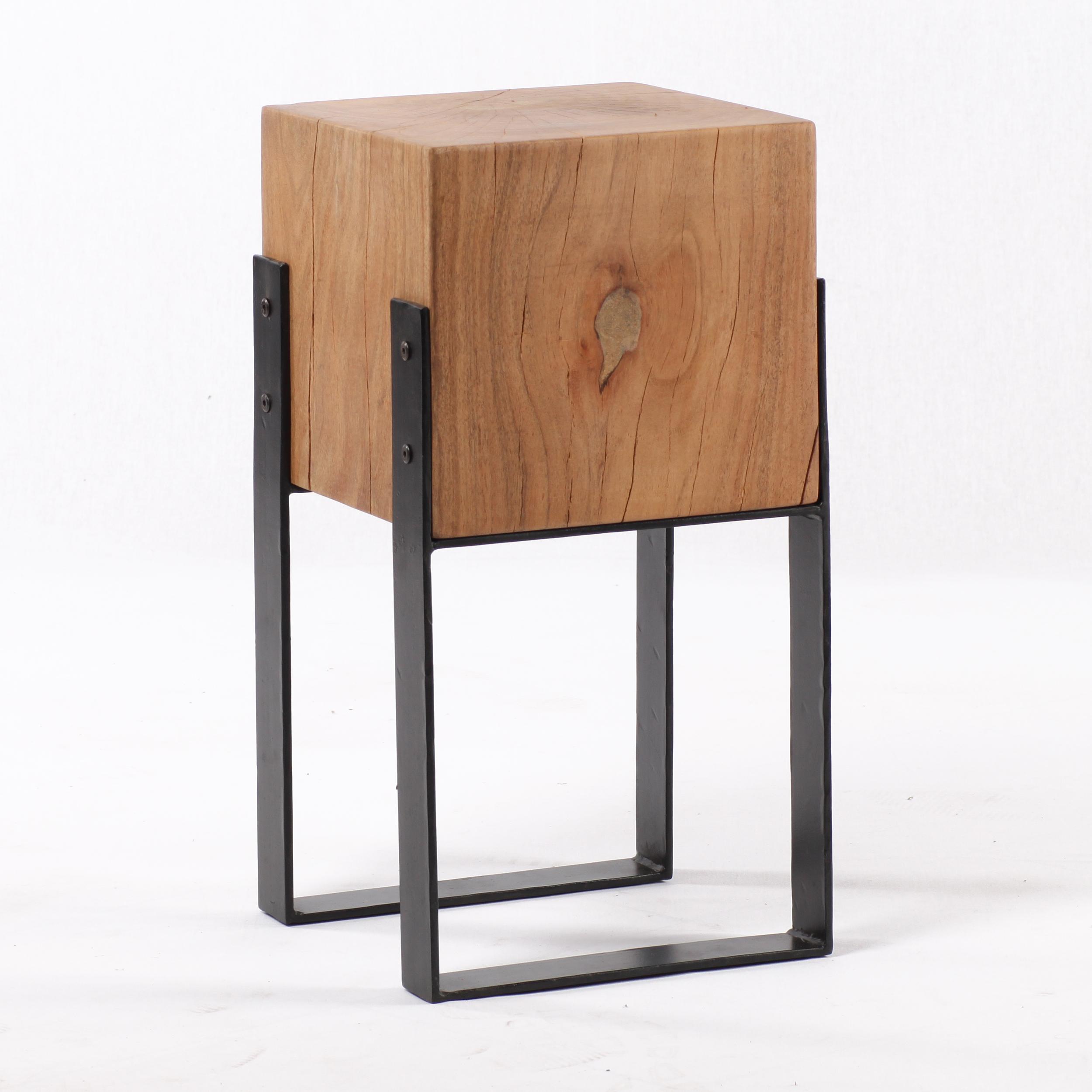 hocker massivholz akazie natur 29x29x55. Black Bedroom Furniture Sets. Home Design Ideas