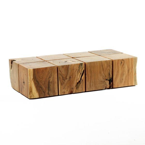Couchtisch 8 block massives vollholz akazie for Couchtisch holzblock