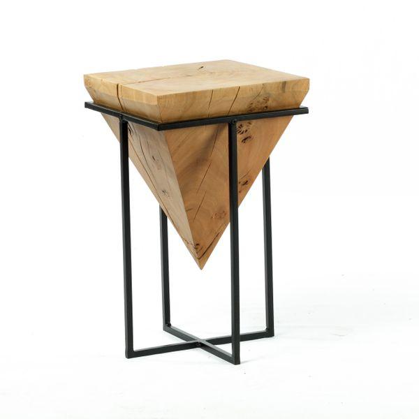 Massivholz Hocker Stuhl Vollholz Akazie 30x30x50 – Bild 1
