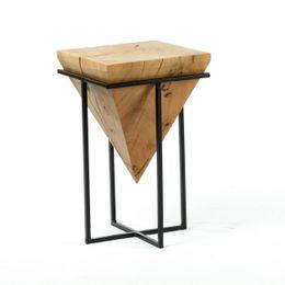 Massivholz Hocker Stuhl Vollholz Akazie 30x30x50