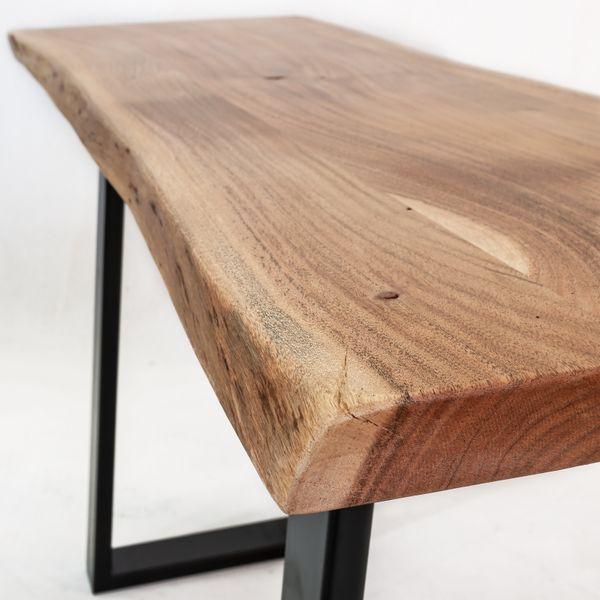 Konsolentisch Schminktisch Massivholz Akazie 130x43x76 – Bild 3