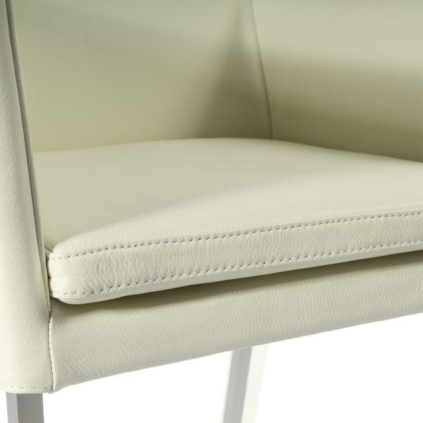 Armlehnstuhl Lederstuhl Ledersessel Stella Creme 2200 – Bild 5