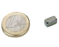 10 x Quadermagnet / Magnetquader  10 x   5 x  8mm Neodym N45, Nickel -  2,6 kg