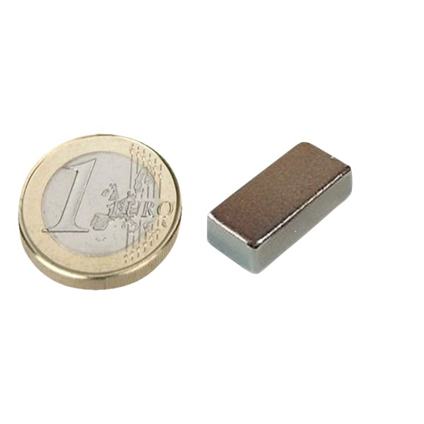 10 x Quadermagnet / Magnetquader  13 x   6 x  4mm Neodym N35, Nickel -  2,5 kg