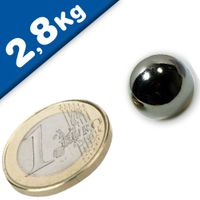 Sphere Magnet Ø 12,7mm Neodymium N40 (Rare Earth) Nickel – pull 2,8 kg