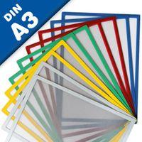 Bolsillos con banda magnética A3, Tamaño final: 43,5 cm x 31,2 cm, 5 piezas