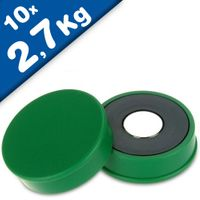 Marker/Notice Board Magnet Ø 30 x 8mm Neodymium, green - force 2,7 kg - 10 pcs.