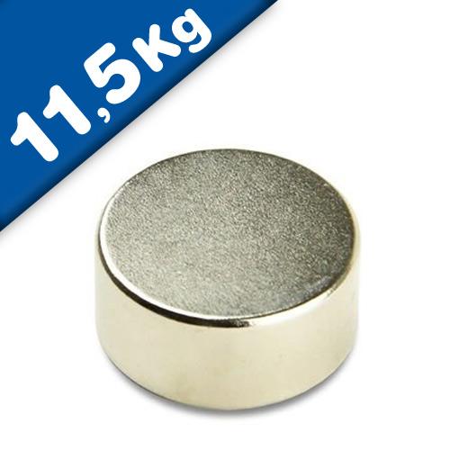 Scheibenmagnet / Rundmagnet Ø 22x 8mm – Neodym N42, Nickel – hält 11,5kg