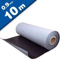 Plain magnetic sheet with self adhesive 0,9mm x 1m x 10m