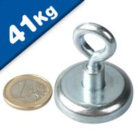 Eyebolt Magnets Pot Magnet with Eyelet Ø 36 mm Neodymium (Rare Earth) - 41 kg