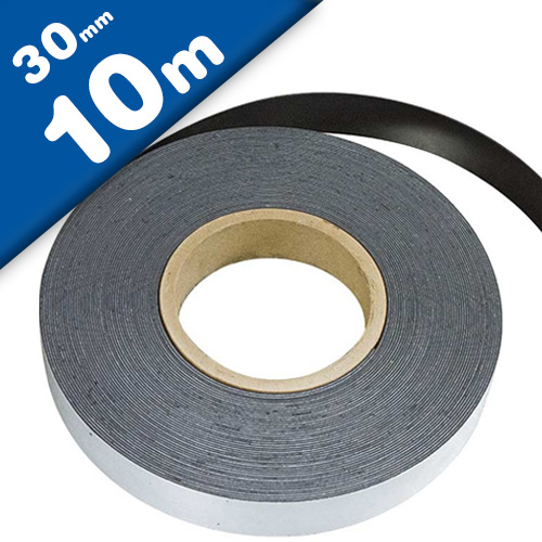 Plain ferrous strip with self adhesive 0,6mm x 30mm x 10m