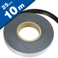 Plain ferrous strip with self adhesive 0,6mm x 25mm x 10m