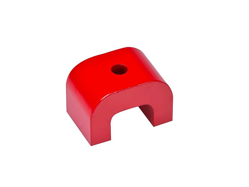 Alnico Horseshoe Magnet width 30mm - 70mm | AlNiCo | red coated | 180°C