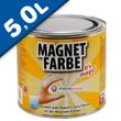 Magnetic Paint / Magnetic receptive wall paint - 5000 ml Tin attracts magnets! 001