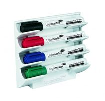 Magnetic whiteboard marker holder for 4x whiteboard marker
