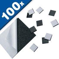 100 Carrés magnétiques adhésif 15 x 15 x 1,2mm Plaquette magnétique autocollante