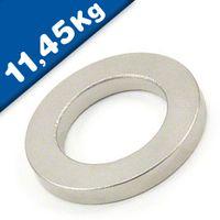 Aimant - Anneau magnetique SmCo Ø 40/25mm, hauteur 5mm, níquel - Force 11,45kg
