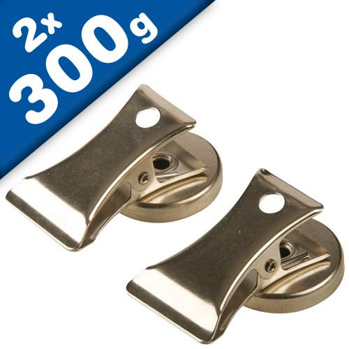 2 x Magnetic Grip Clips - lenght: 2,5 cm - width: 1 cm - 2 pieces