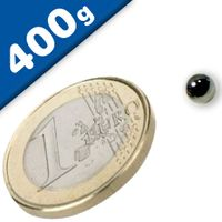 Sphere Magnet Ø  5mm Neodymium N40 (Rare Earth) Nickel – pull 400 g