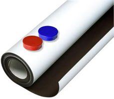 Eisenfolie Ferrofolie selbstklebend weiß matt 0,6mm x 10cm x 100cm