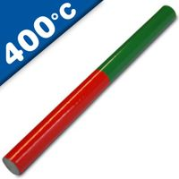 AlNiCo 5 Educational Magnetic Rod Round Magnet 150 x 10mm, red-green - 400°C