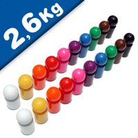 Starke Magnetpins / Pin Magnete multi color Höhe: 30mm Ø13mm - Haftkraft: 2,6kg