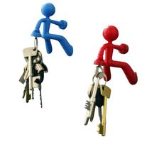 Magnetic Key Holder - Man - 7x6x8cm, Colors: black, blue, red, green - 1 piece