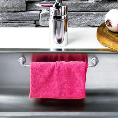 Magnetic stainless steel rail for sinks or fridges, Length: 23 cm, Depth: 4 cm